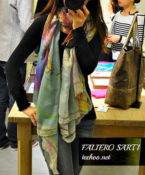 FALIERO SARTI  ファリエロ サルティのストール2013春は世界地図口コミ