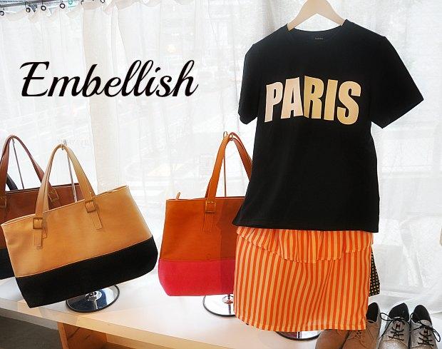 エンブリッシュEmbellish.でファッションブロガー的ミックスコーデを。Like a fashion Blogger
