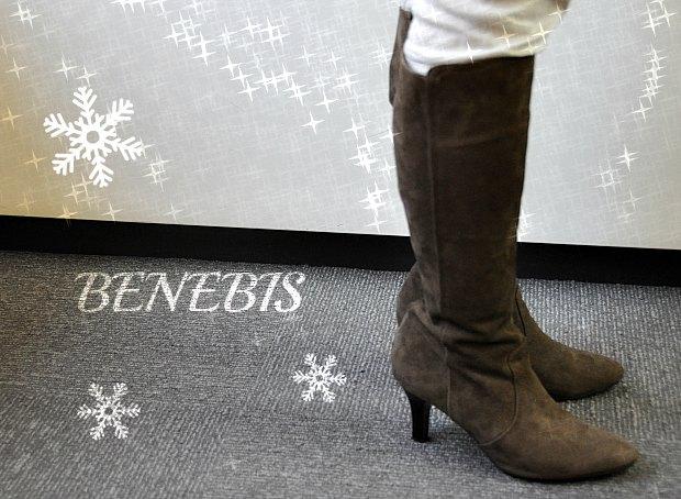 筒幅サイズを選べるブーツで美脚ベネビスBenebisきつくない履きやすいBoots