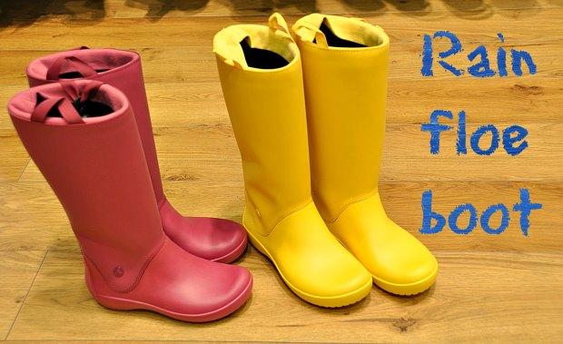 運転しやすい長靴レインブーツクロックスおりたたみRain floe boot柔らかい靴車快適