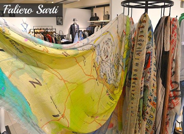 Faliero Sarti ファリエロサルティストール2014年春夏新作地図イビサ島や、ポートレイト