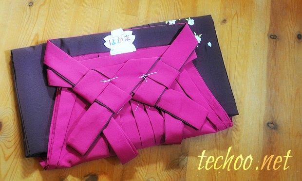小学生袴卒業式服可愛い袴140㎝~150センチ買いました。着付け相場料金
