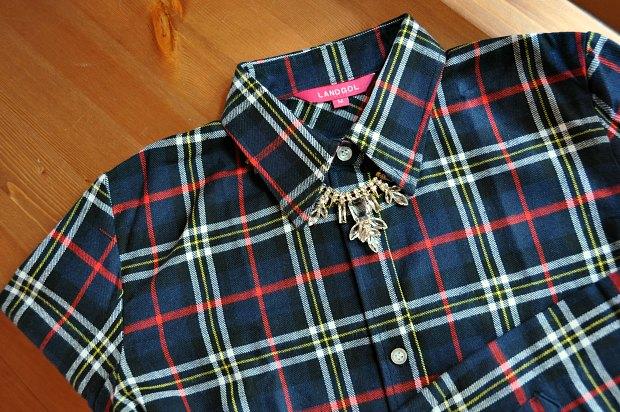 ネルシャツチェック柄ネイビーは万能シャツ。VERYスタイリスト高橋さんの真似した