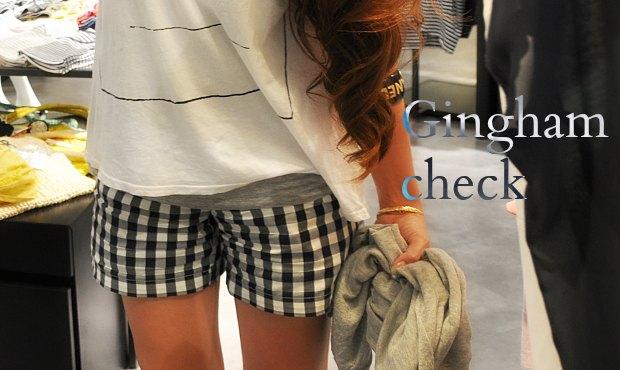 gingham checkぱんts2211