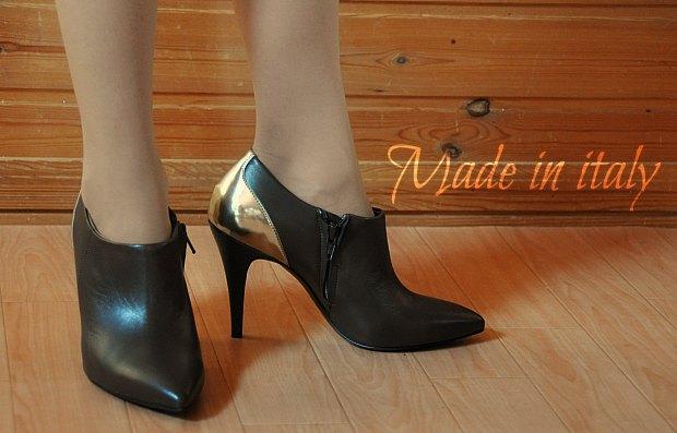 ピンヒールブーティイタリア靴1万円以下本革1618 YOOX.COMで