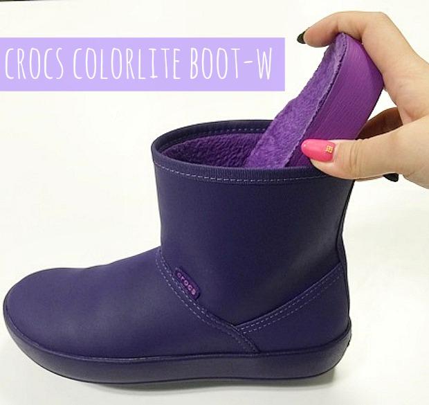 ショートレインブーツ短い長靴柔らか素材で運転もしやすいクロックスcolorlite