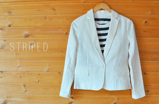 白ジャケット流行テーラードネイビージャケットで、紫外線防止カーデ