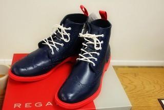 リーガルのレインシューズ!メンズの長靴ウィングチップブーツ