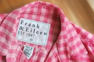 フランクアンドアイリーンFrank&Eileen Barryシャツ着画。ファーフェッチで買える