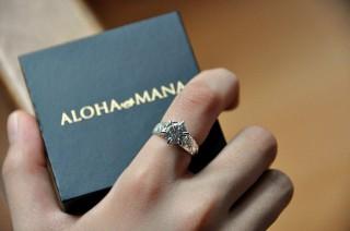 彼女や妻にプレゼント指輪可愛いペアリングおすすめアロハマナALOHA MANA