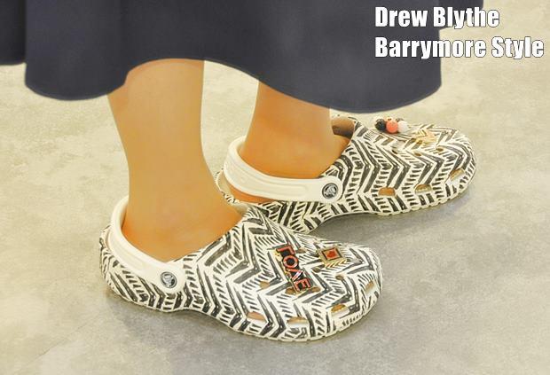Drew Blythe Barrymore2crocs