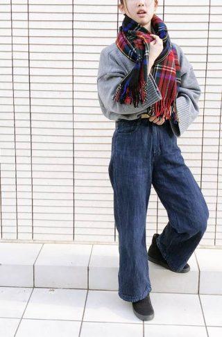 NANING9で韓国ファッション冬コーデ【ニット×ストール】10代