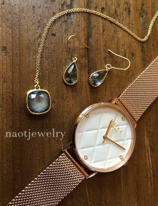 ネックレス\スワロフスキー/ざっくりニットにnaotjewelry