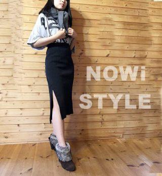 サイドスリットスカート&ロングカーディガン【韓国ファッション】 NANING9