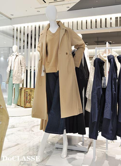 ドゥクラッセコート春物30代~40代ファッション